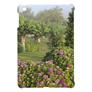 Hydrangea garden in the mist, Arzua, Spain Cover For The iPad Mini