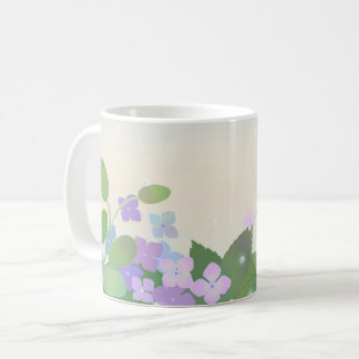 Hydrangea hydrangea coffee mug