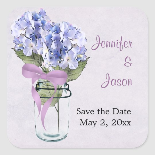 Hydrangea in a Mason Jar - Save the