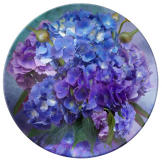 Hydrangea In Hydrangea Vase Decorative Plate