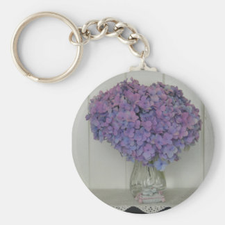 Hydrangea Keychain
