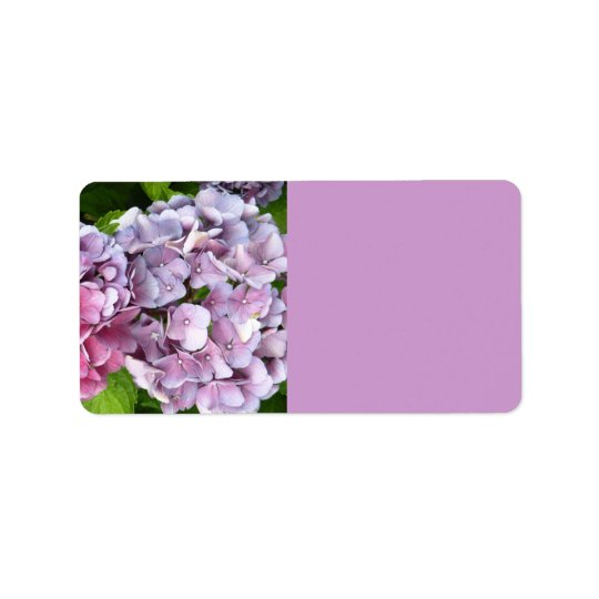 Hydrangea Mailing Labels