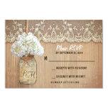 hydrangea mason jar rustic wedding RSVP cards Invites