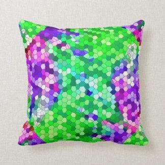 Hydrangea Mosaic Cushion