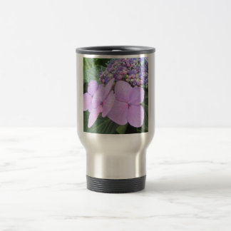 Hydrangea Purple Blooming Flower Stainless Steel Travel Mug