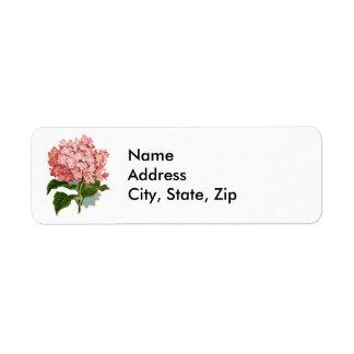 Hydrangea Return Address Label