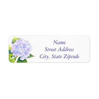 'Hydrangea' Return Address Label