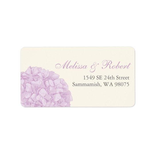Hydrangea Return Address Label