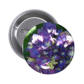 Hydrangea Round Button