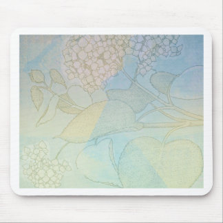 Hydrangea Series Watercolor Botanical Print II Mouse Pad