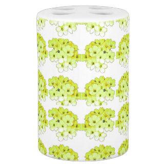 """"""" Hydrangea""""   Spring Green II* Modern Art Soap Dispenser And Toothbrush Holder"""