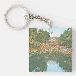 Hydrangea Valley, Trebah Gardens Acrylic Key Ring