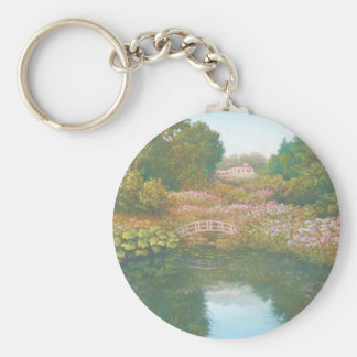 Hydrangea Valley, Trebah Gardens Cornwall Key Ring
