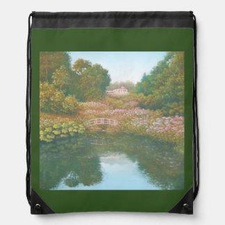 Hydrangea Valley, Trebah Gardens Drawstring Bag