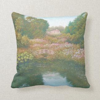 Hydrangea Valley, Trebah Gardens Polyester Cushion