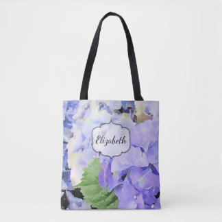 Hydrangea Watercolor Custom Tote Bag