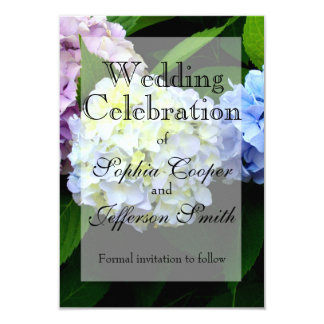 Hydrangea Wedding collection 9 Cm X 13 Cm Invitation Card