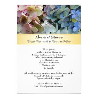 Hydrangea Wedding Rehearsal Dinner Card