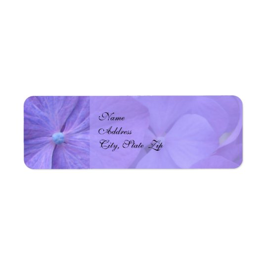 Hydrangea Wedding Return Address Label