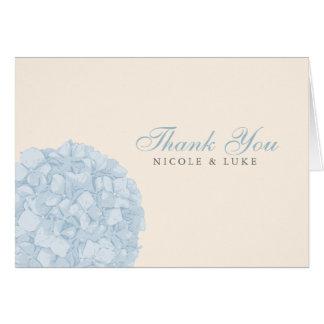 Hydrangea Wedding Thank You Card