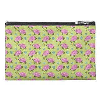 Hydrangeas and butterflies pattern travel accessories bag