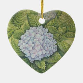 Hydrangeas at Lanhydrock Cornwall Bridesmaid Heart Christmas Ornament
