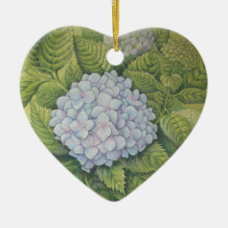 Hydrangeas at Lanhydrock Cornwall Heart Birthday Christmas Ornament
