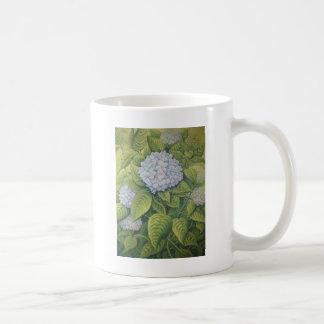 Hydrangeas at Lanhydrock, Cornwall in Pastel Coffee Mug