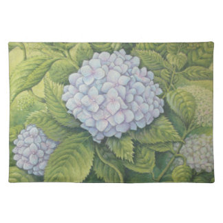 Hydrangeas at Lanhydrock, Cornwall in Pastel Placemat