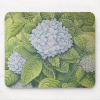 Hydrangeas at Lanhydrock in Pastel Mouse Mat
