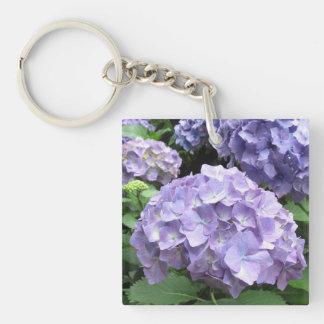 Hydrangeas at Trebah Garden Acrylic Key Ring
