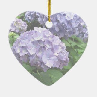 Hydrangeas at Trebah Gardens Bridesmaid Wedding Ceramic Heart Decoration