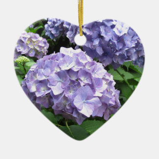 Hydrangeas at Trebah Gardens, Cornwall Bridesmaid Ceramic Heart Decoration