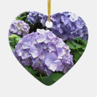 Hydrangeas at Trebah Gardens, Cornwall Bridesmaid Ceramic Heart Decoration