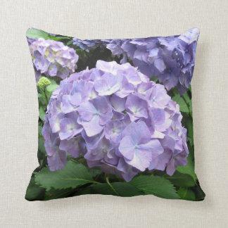 Hydrangeas at Trebah Gardens Polyester Cushion