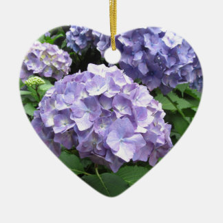 Hydrangeas at Trebah Gardens Thank You Bridesmaid Ceramic Heart Decoration