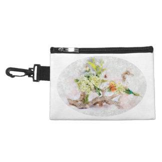 Hydrangeas Bella Watercolor Clip On Accessory Bag