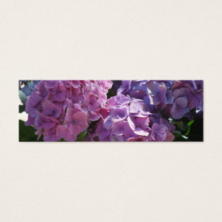 hydrangeas bookmark mini business card