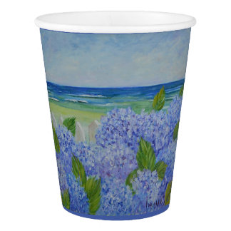 Hydrangeas By The Sea Paper Cup
