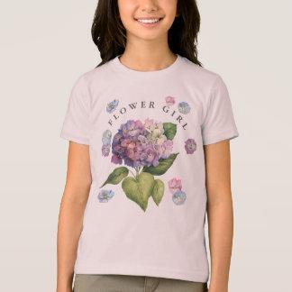 Hydrangeas Flower Girl T-Shirt