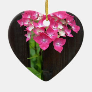 hydrangeas in bloom christmas ornament
