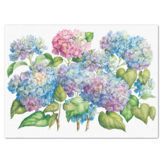 Hydrangeas in Bloom Tissue Paper