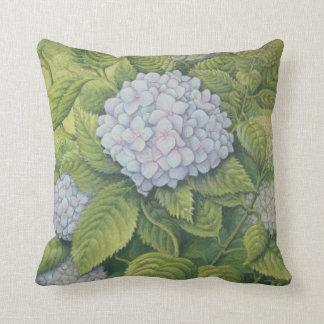 Hydrangeas, Lanhydrock Cornwall Polyester Cushion