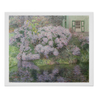 Hydrangeas on the banks of the River Lys, 1898 (oi Poster
