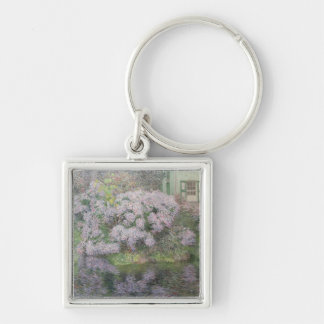 Hydrangeas on the banks of the River Lys, 1898 (oi Silver-Colored Square Key Ring