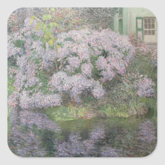Hydrangeas on the banks of the River Lys, 1898 (oi Square Sticker
