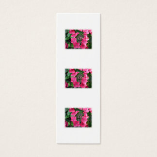 Hydrangeas. Pink Flowers. White. Mini Business Card