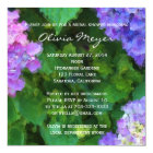 Hydrangeas Watercolor Bridal Shower Invitation