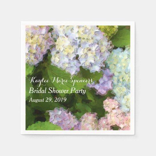 Hydrangeas Wedding Bridal Shower Napkins Disposable Serviette