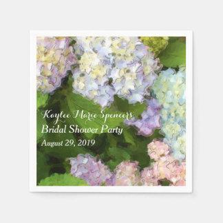 Hydrangeas Wedding Bridal Shower Napkins Disposable Napkin